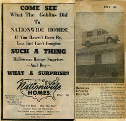 Nationwide Homes newspaper ad 1959