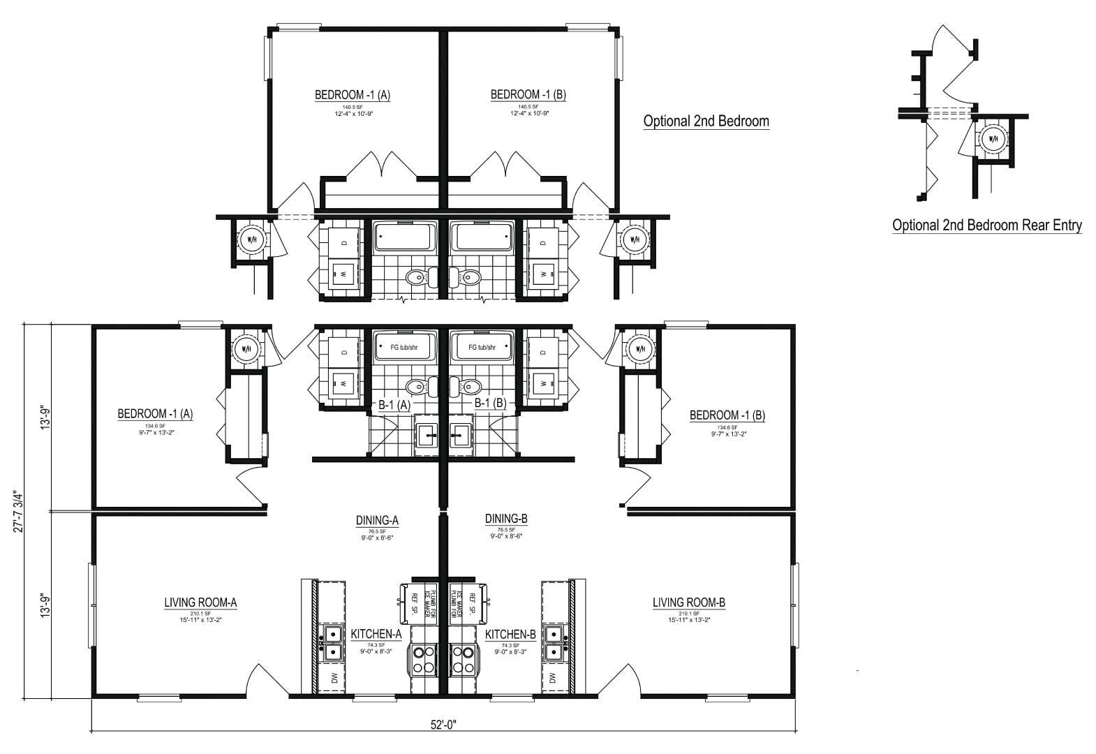 Nationwide Homes Modular Townhouse Floor Plan Bridgewater