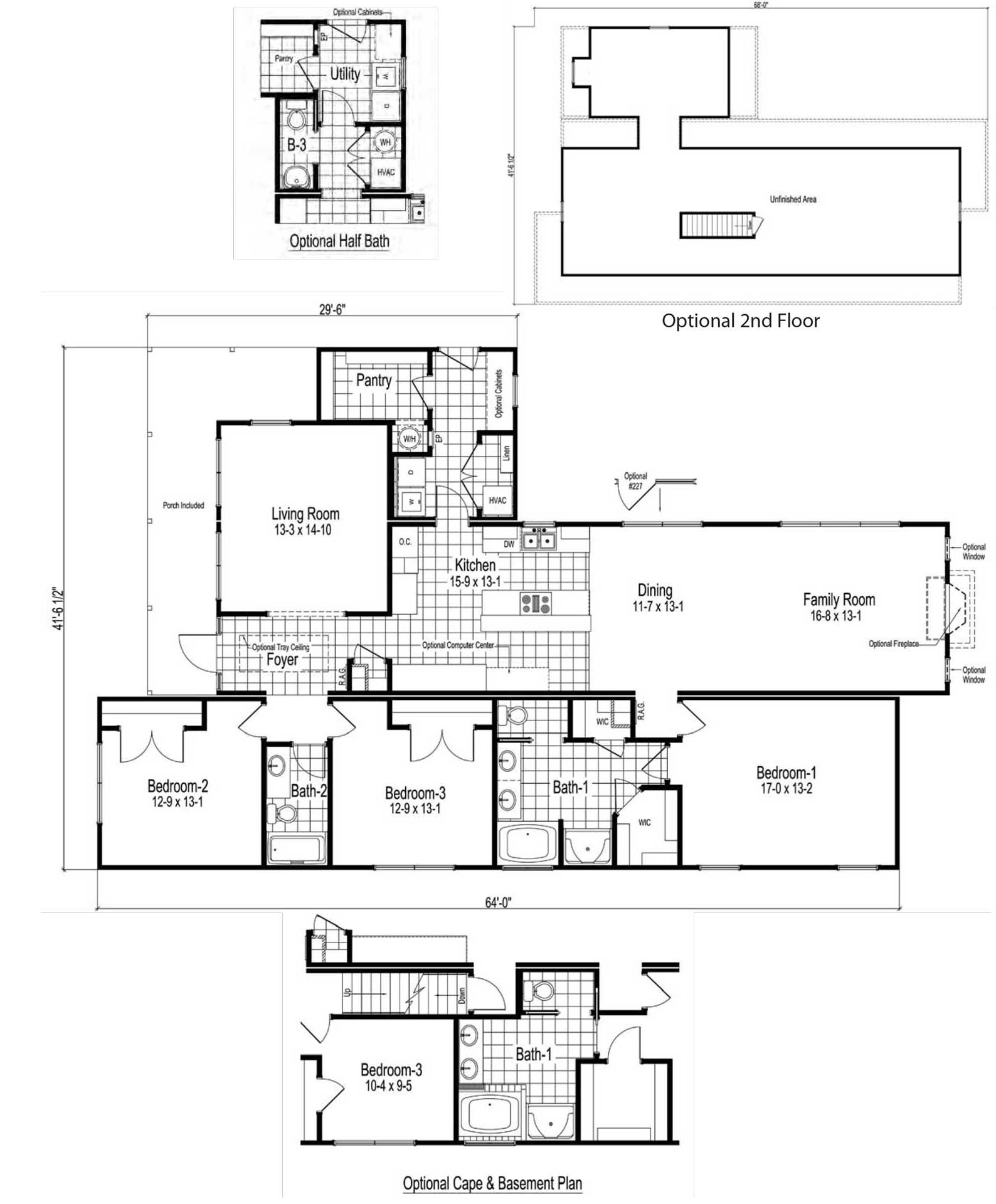 Canal Street Ranch Modular Home Floor Plan