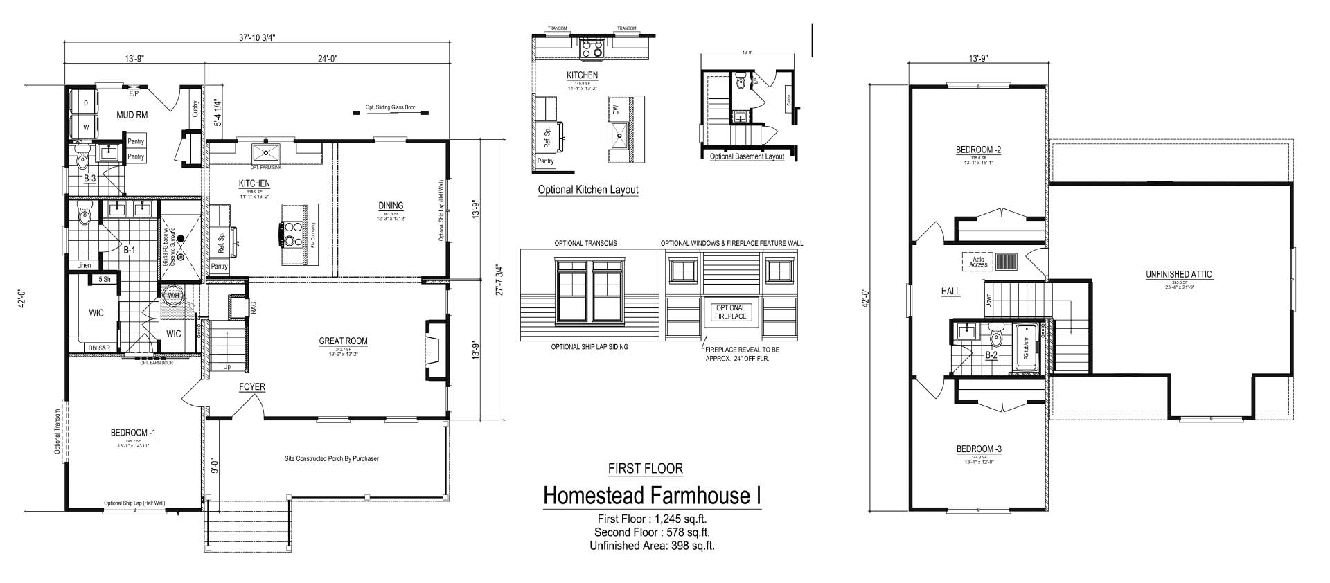 Nationwide Homes Modular Ranch Floor Plan Farmhouse I