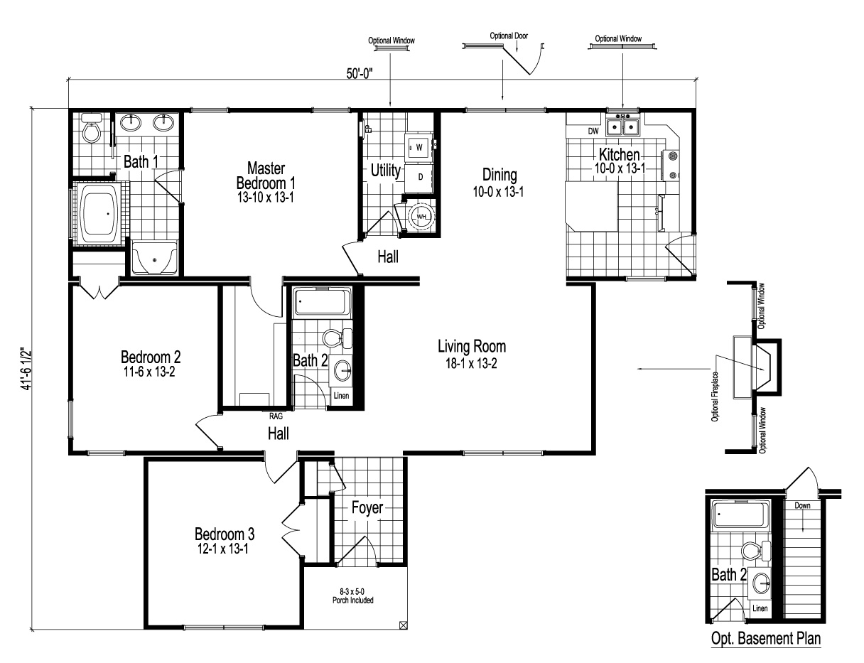 Franklin Ranch Modular Home Floor Plan