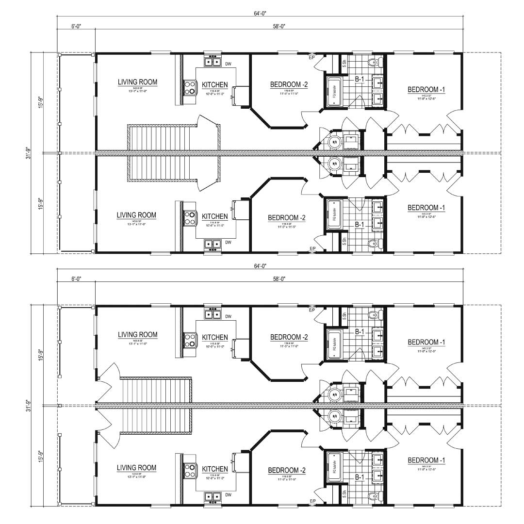 Nationwide Homes Modular Townhouse Floor Plan Hatteras
