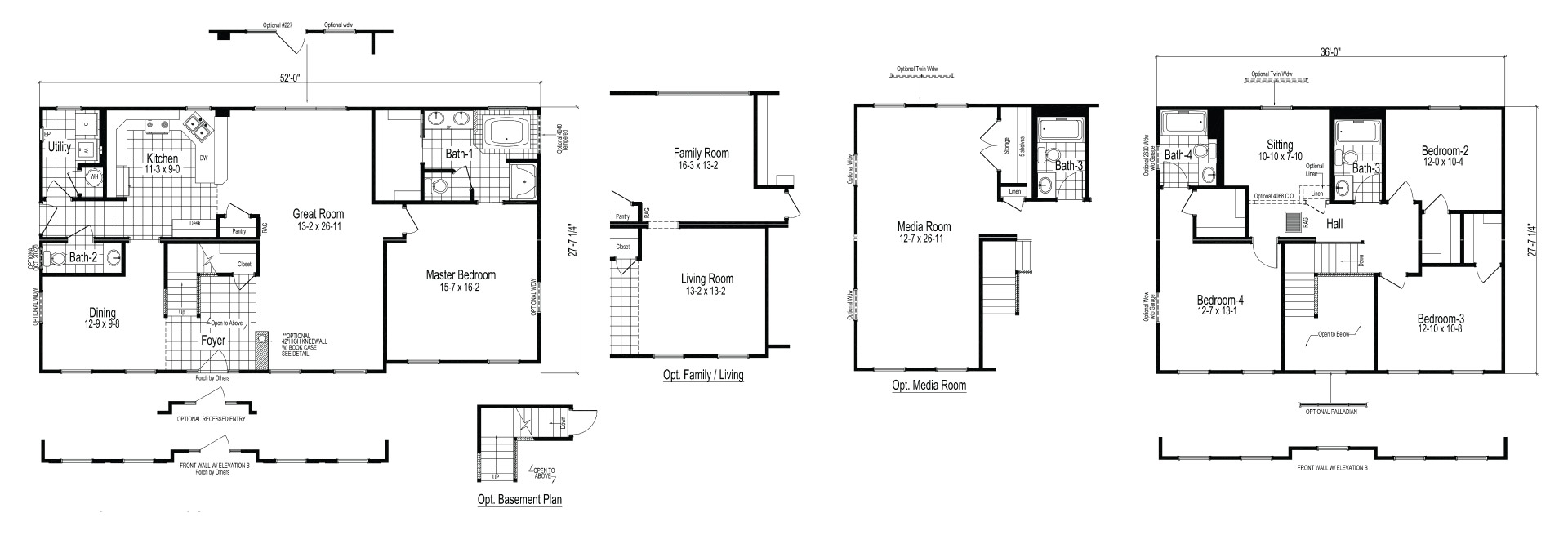 Haywood II Modular Home Floor Plan