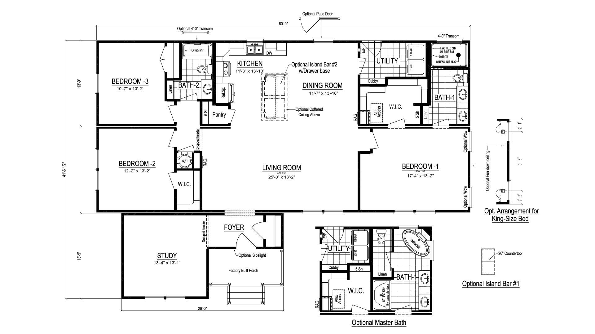 Homestead III Modular Home Floor Plan