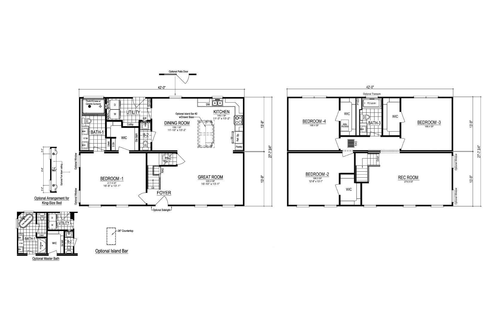 Homestead VII Two Story Modular Home Floor Plan