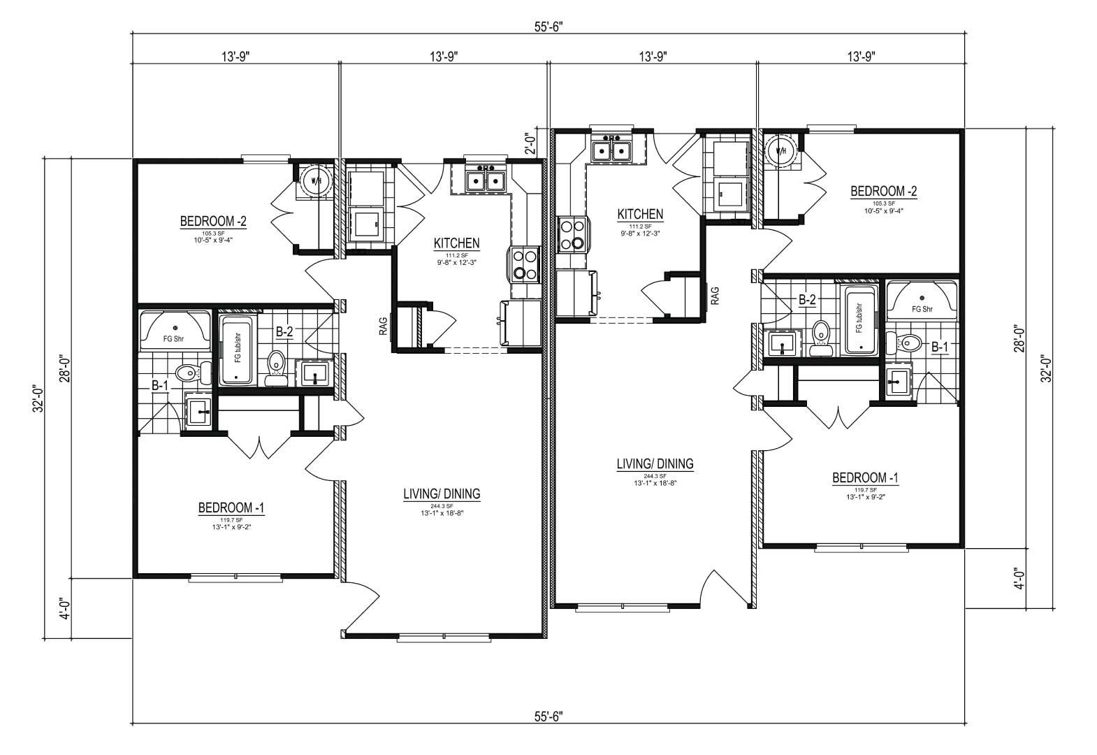 Nationwide Homes Modular Duplex Floor Plan Longwood