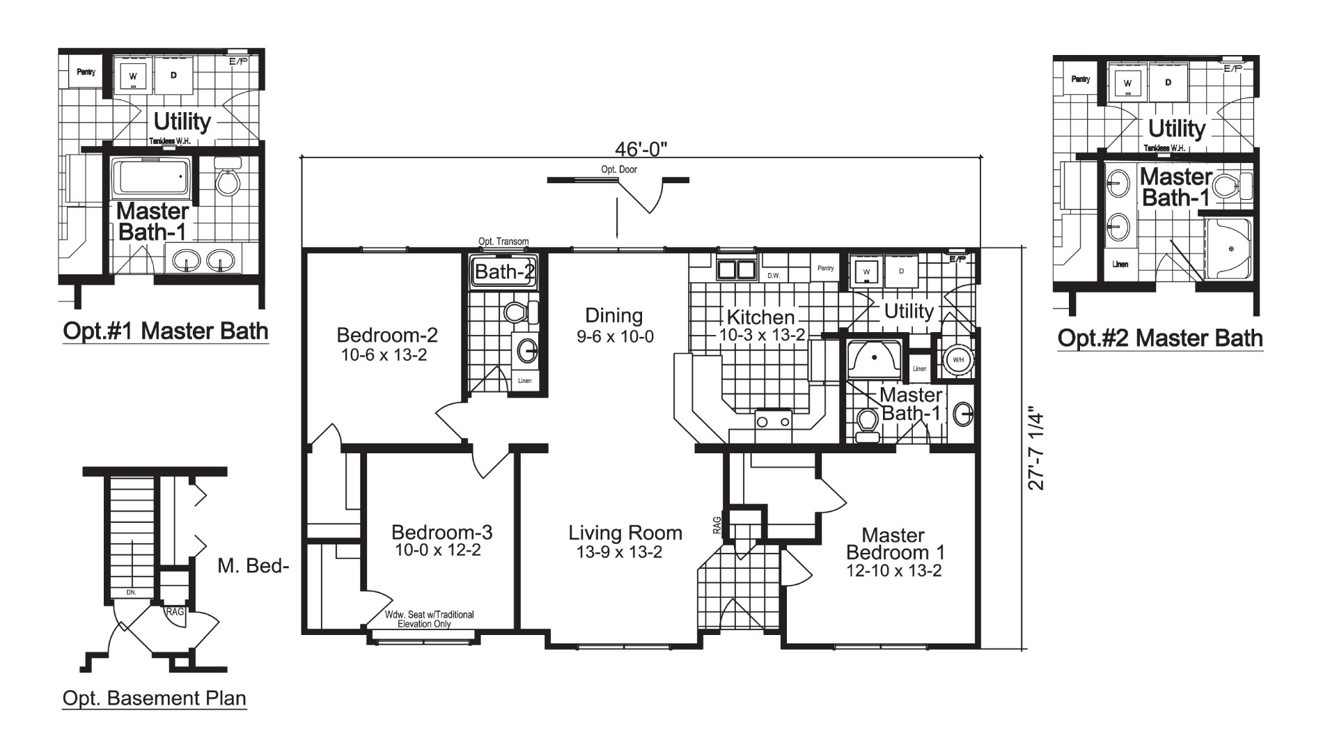 Oakdale Ranch Modular Home Floor Plan