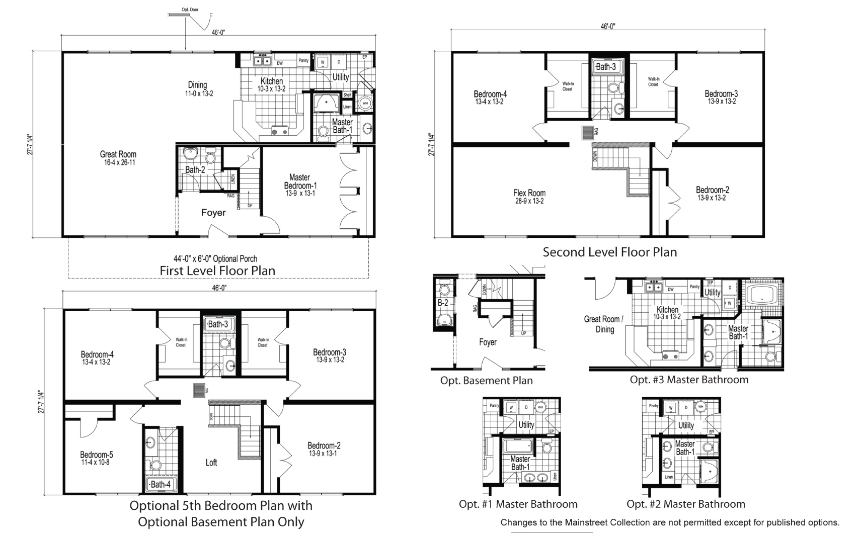 Ridgewood Two Story Modular Home Floor Plan