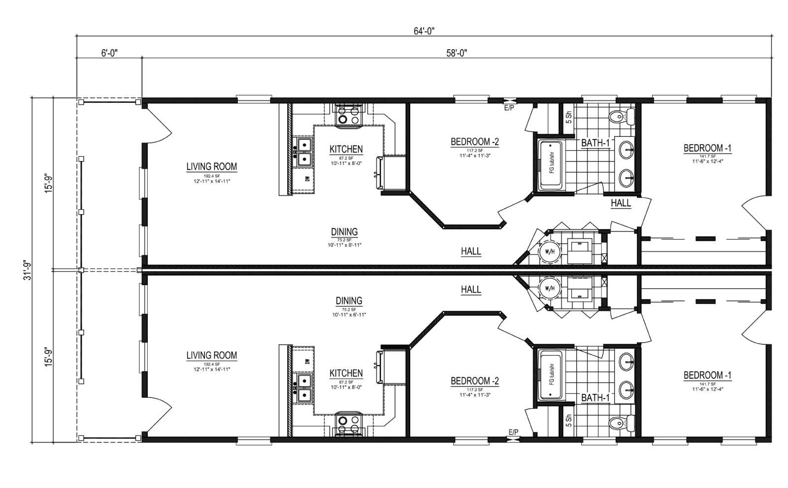 Nationwide Homes Modular Duplex Floor Plan Sanibel
