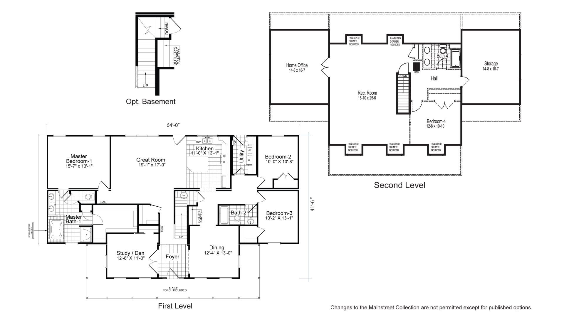 Tidewater Cape Cod Modular Home Floor Plan