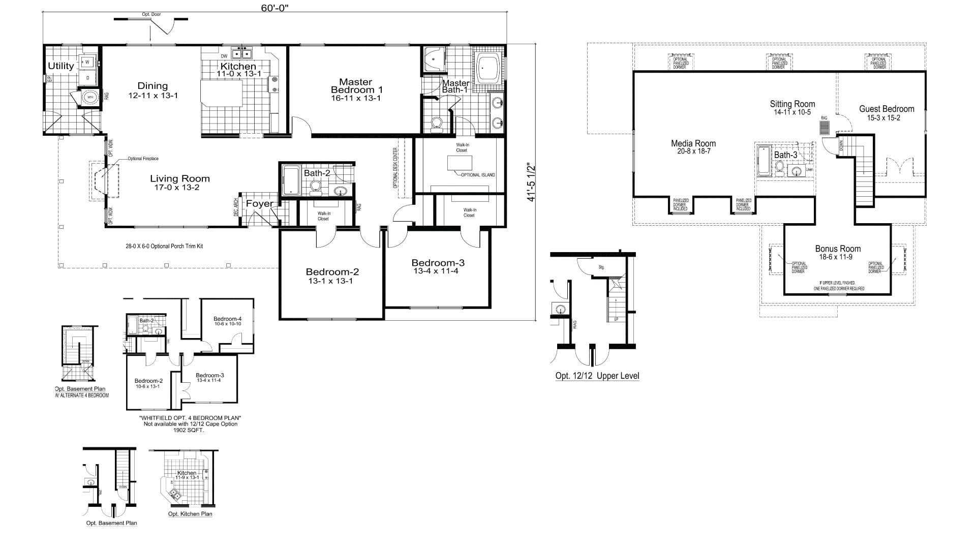 Whitfield Ranch Modular Home Floor Plan