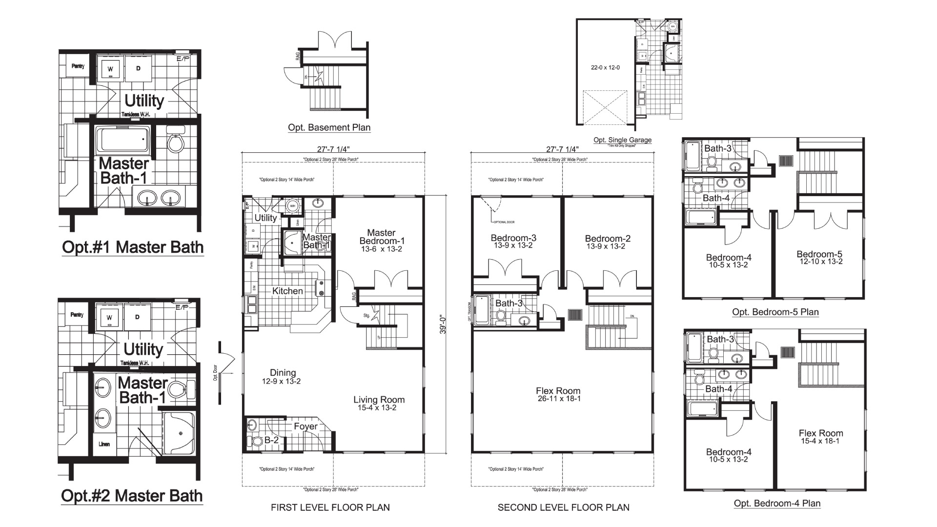 Woodberry Two Story Modular Home Floor Plan