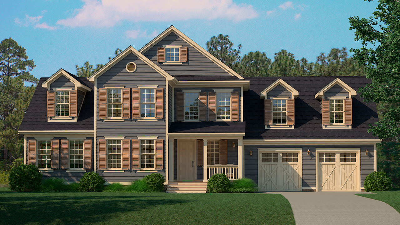 Auburn Model Rendering Dark Craftsman Exterior