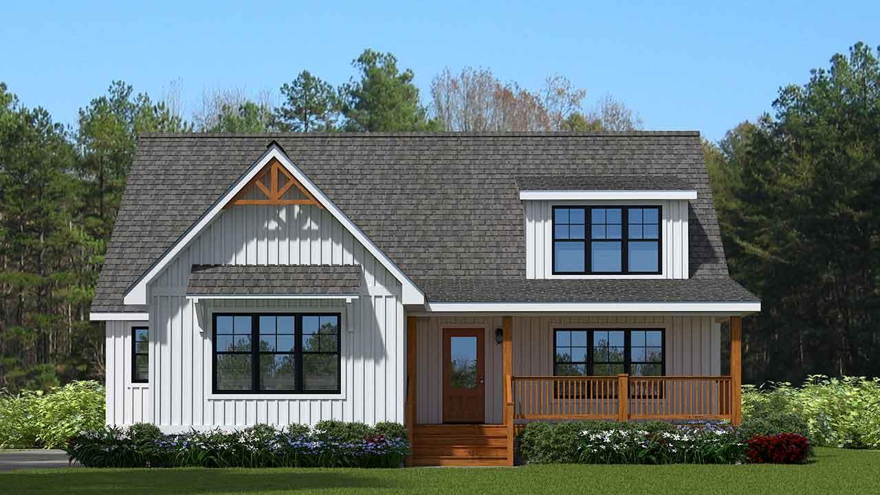 Farmhouse style cape cod modular home design