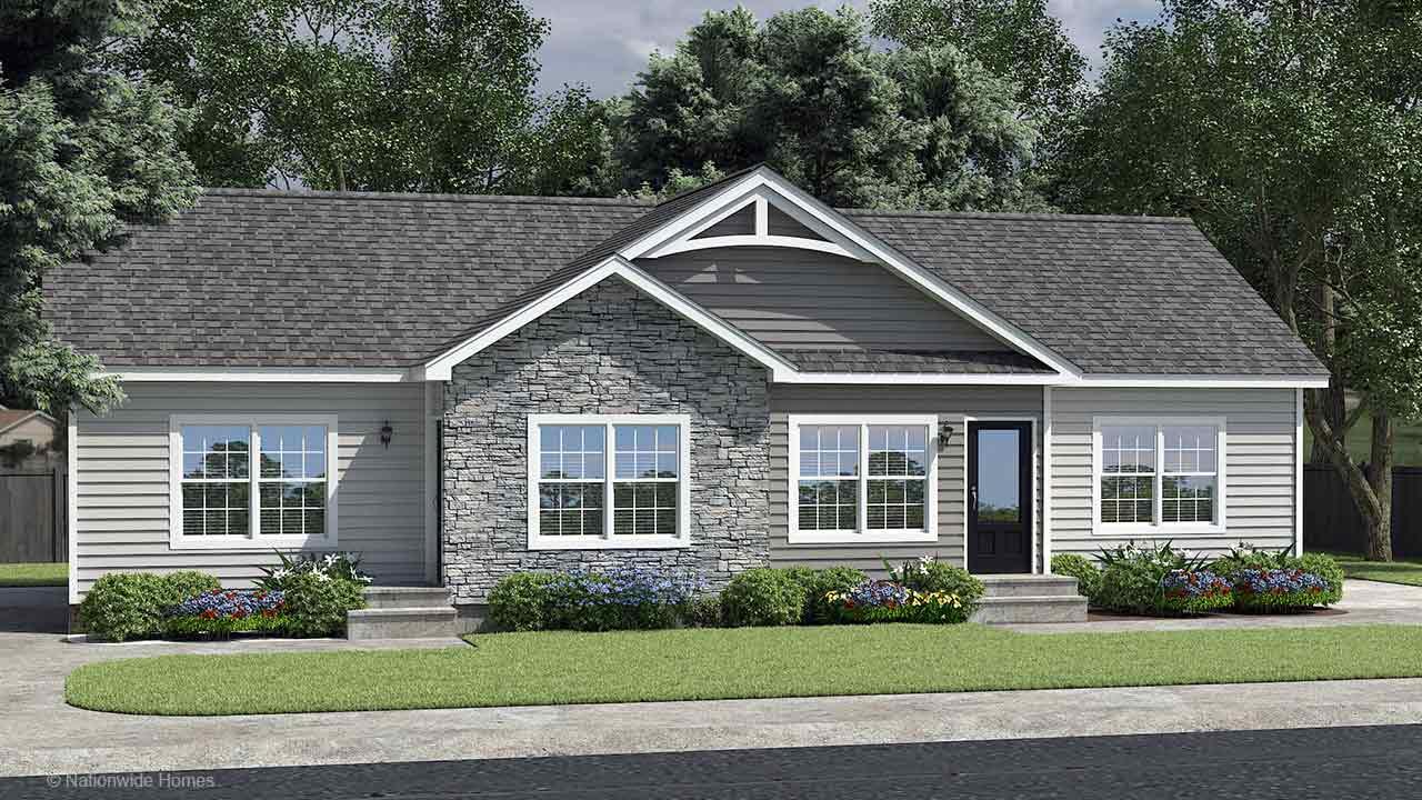 Longwood duplex modular home rendering