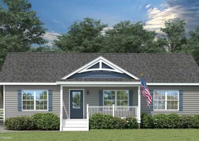Nationwide Homes Modular Home Rendering Mainstreet Elite Aspen Ranch Model Elevation B