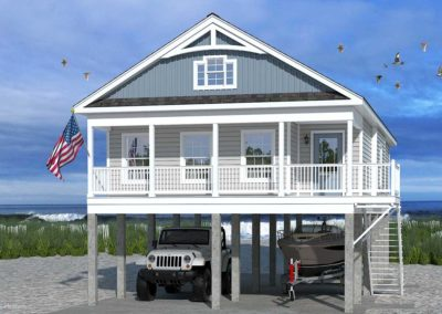 Nationwide Homes Modular Home Rendering Mainstreet Elite Bayview Ranch Model Elevation A