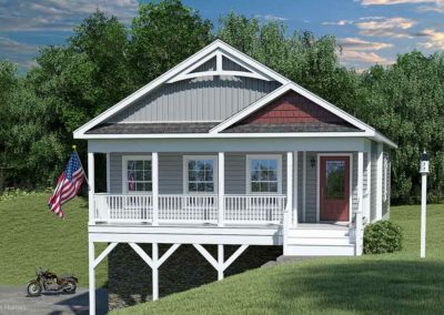 Nationwide Homes Modular Home Rendering Mainstreet Elite Bayview Ranch Model Elevation B