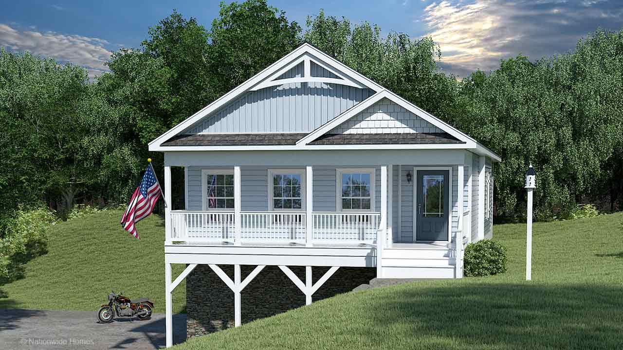 Nationwide Homes Modular Home Rendering Mainstreet Elite Bayview Ranch Rendering