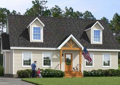 Nationwide Homes Modular Home Rendering Mainstreet Elite Blue Ridge Elevation B