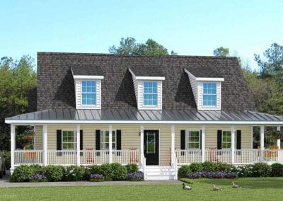 Nationwide Homes Modular Home Rendering Mainstreet Elite Blue Ridge Elevation C