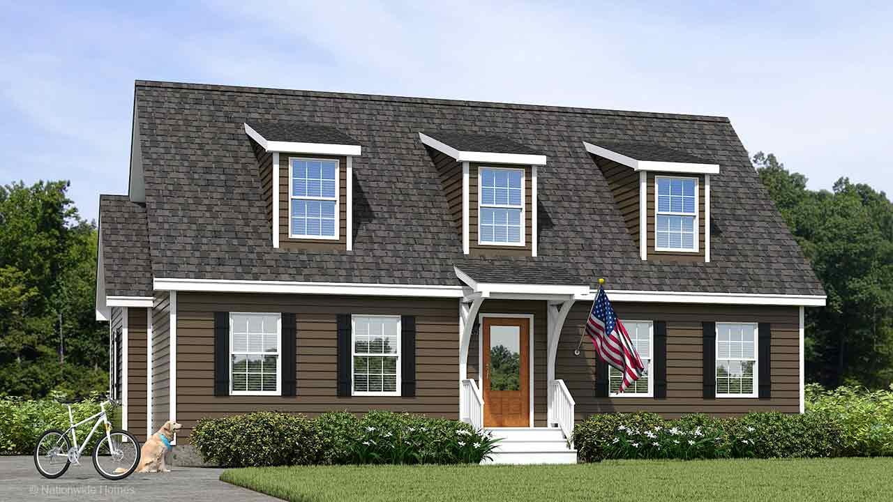 Nationwide Homes Modular Home Rendering Mainstreet Elite Blue Ridge Elevation A