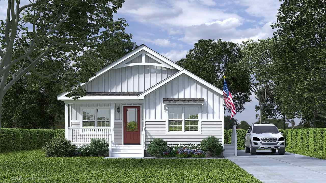 Craven I Ranch Modular Home Rendering