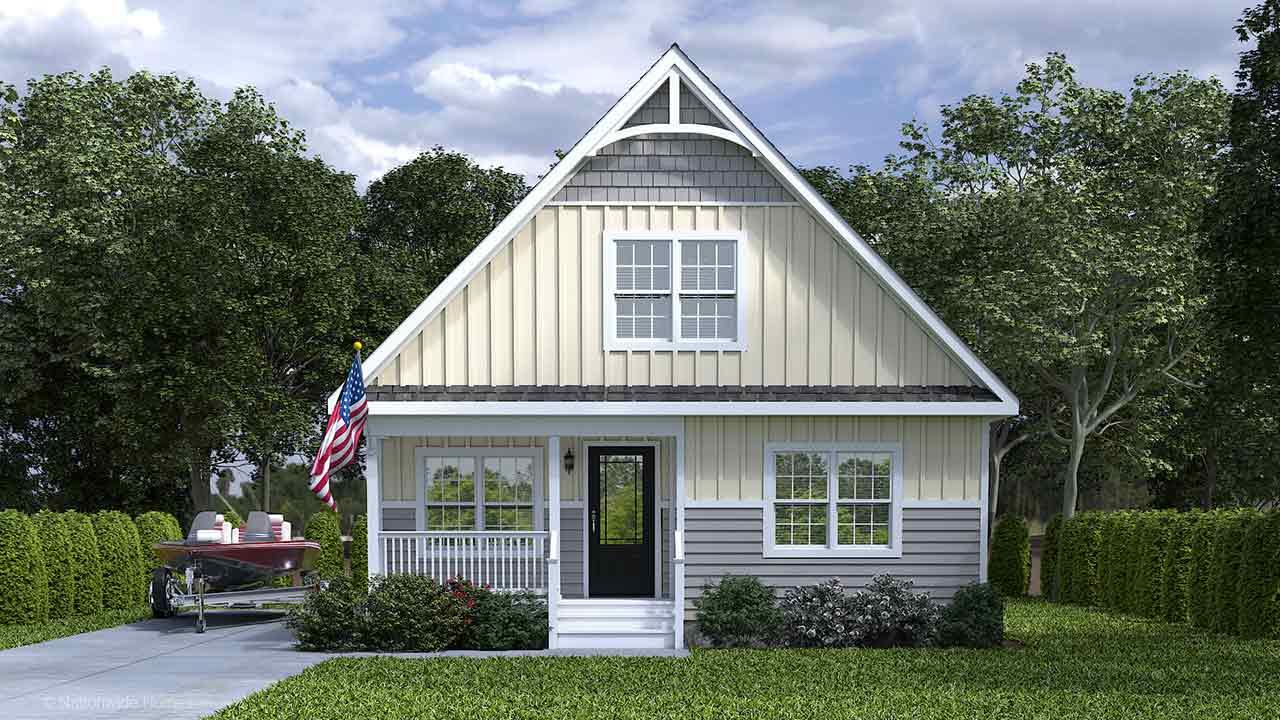 Craven II Cape Code Modular Home Rendering