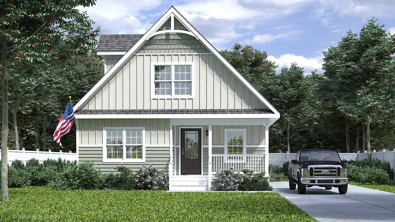 Craven III Cape Code Modular Home Rendering